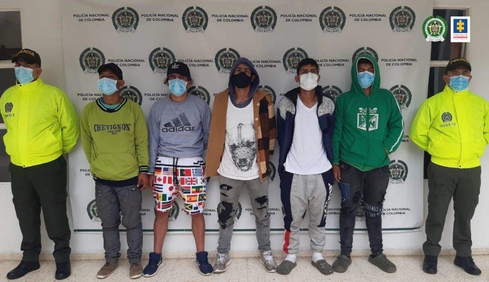 Asegurados 5 presuntos miembros de la banda Los Biker por hurto y concierto para delinquir