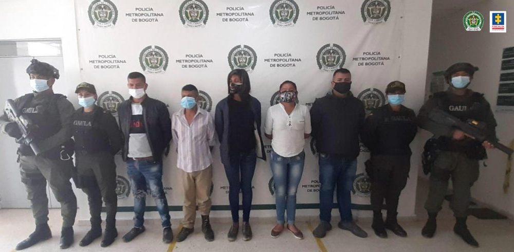 Asegurados cinco presuntos integrantes de 'Ávatar', grupo delictivo dedicado a la extorsión en Ciudad Bolívar