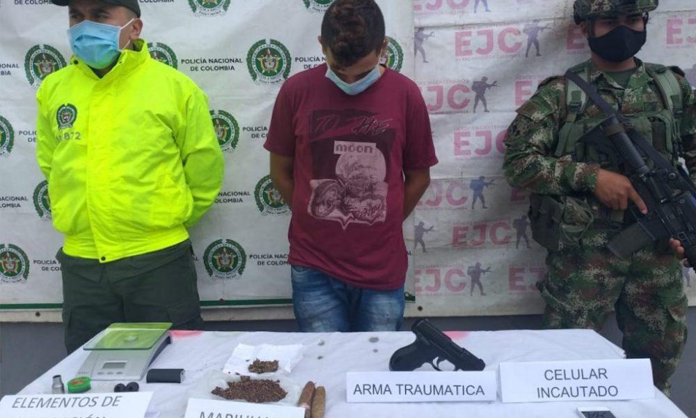Capturado un hombre y aprehendido un adolescente por presunto tráfico de estupefacientes en Caquetá