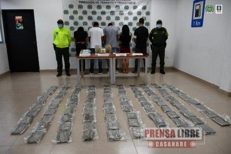 Capturados 5 integrantes de la banda Los Maleteros dedicados al tráfico de estupefacientes en el Meta