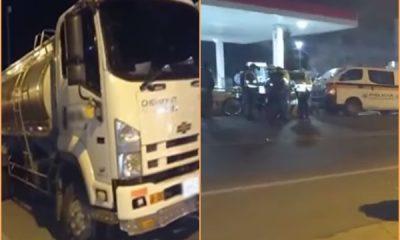 Conductor de camión cisterna habría arrollado a tres menores de edad, intentó huir pero fue detenido