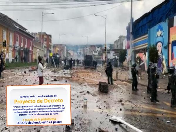 Con una consulta pública en Pasto implementarán protocolo de intervención policial en protestas