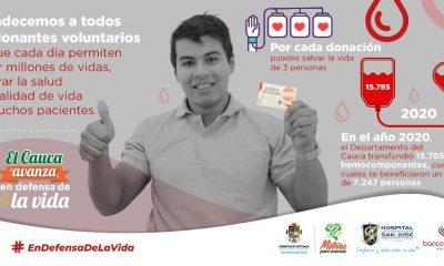 Donar sangre para que la vida en el Cauca siga latiendo
