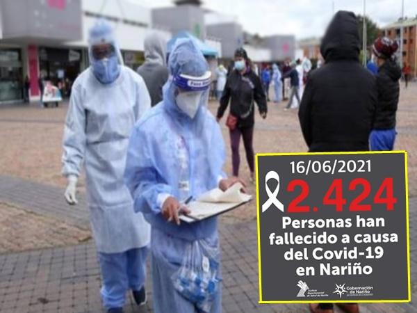 En Nariño reportan más de 2 mil fallecidos a causa del Covid-19 y siguen los contagios