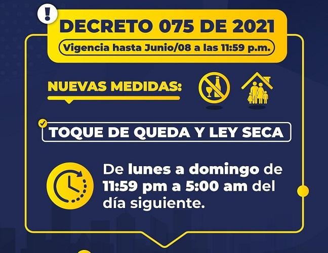 En Riohacha estipulan horarios más flexibles de toque de queda y ley seca