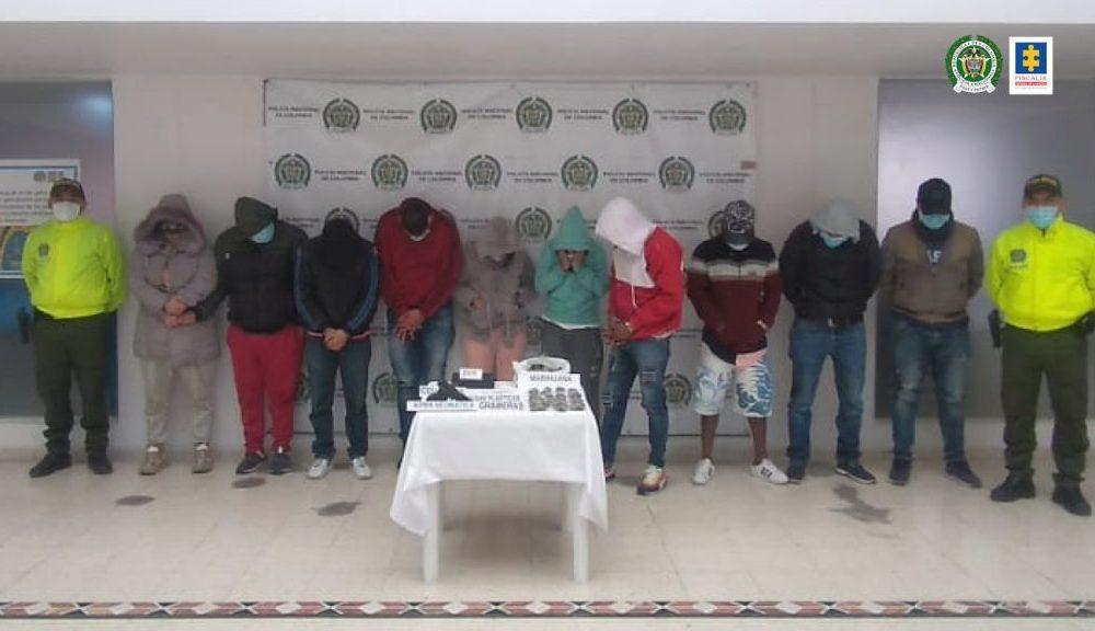 Fiscalía judicializó a 9 presuntos integrantes de la banda delictiva Los Blue por tráfico de estupefacientes en Pasto (Nariño)