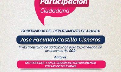 Gobernador Facundo Castillo adelanta este lunes y martes las mesas de participación ciudadana con ocasión del artículo 30 de la Ley 2056 de 2020