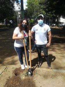 Jornada de embellecimiento al parque Benito Juarez