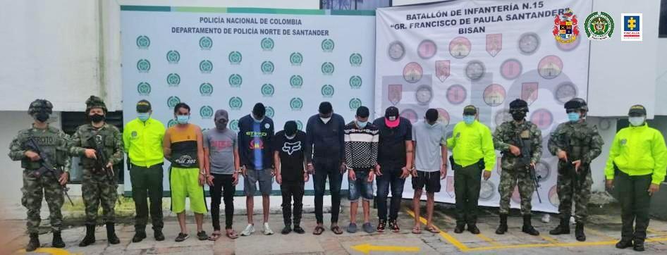 Judicializados 13 presuntos integrantes del grupo delincuencial Los Chamos, dedicado al hurto de motocicletas y camionetas en los municipios de Ocaña (Norte de Santander) y Río de Oro (Cesar)