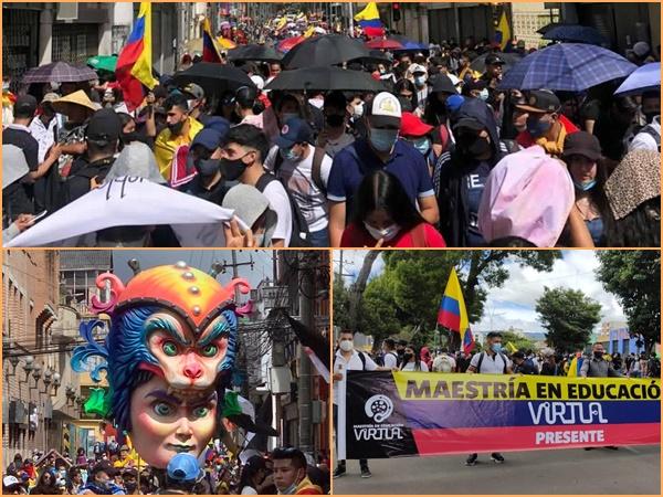La protesta pacífica y colorida que dio ejemplo en Pasto este #2J