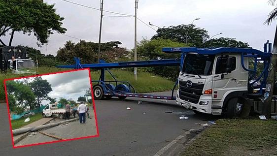 Las denuncias tras el bloqueo con la niñera y el camión de alimentos en la Carrera 50 con Simón Bolívar