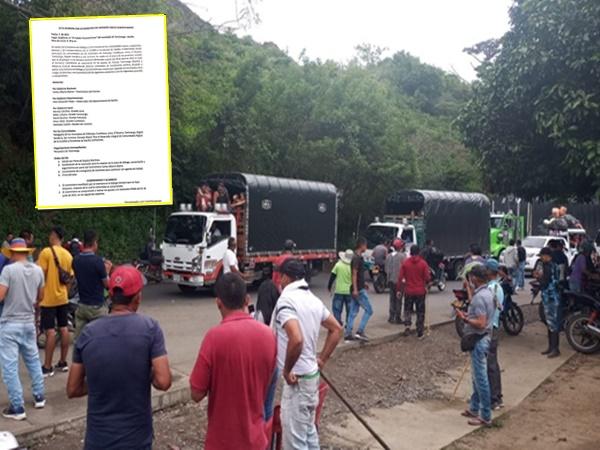 Tras concertación levantaron totalmente el bloqueo de la vía Taminango-Pasto, sector Panoya