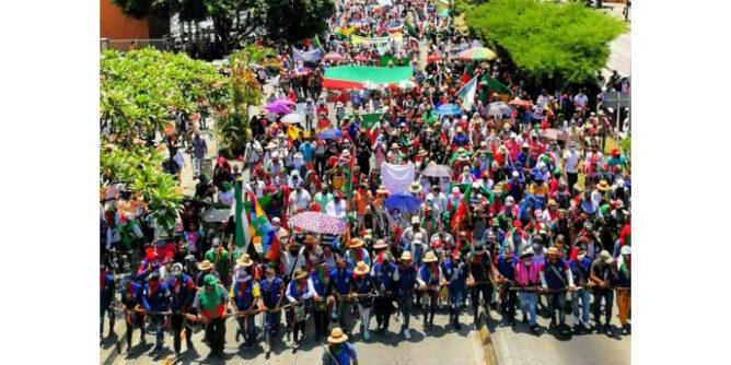 Minga indígena del Cauca se va para Bogotá