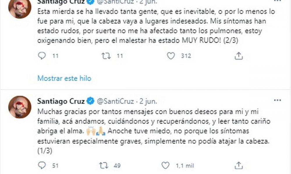 santiago cruz covid