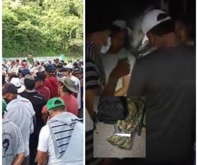 Panoya-Taminango el punto que sigue bloqueado en la Panamericana en Nariño