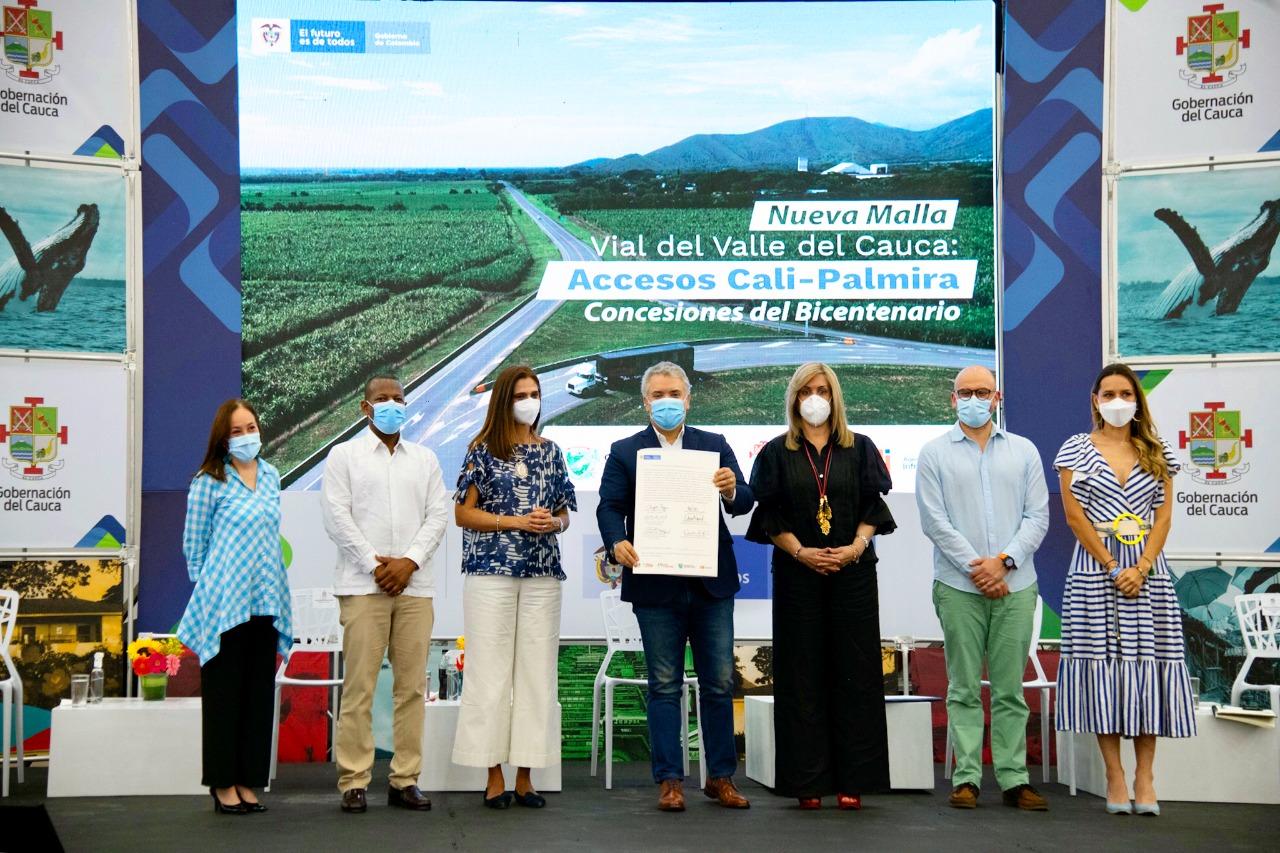 Presidente da inicio a contrato de Malla Vial del Valle del Cauca, primera concesión 5G en el país