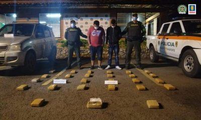 Privados de la libertad tres presuntos responsable de transportar marihuana y cocaína en dos municipios del Valle del Cauca
