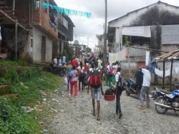 familias desplazadas en Nariño