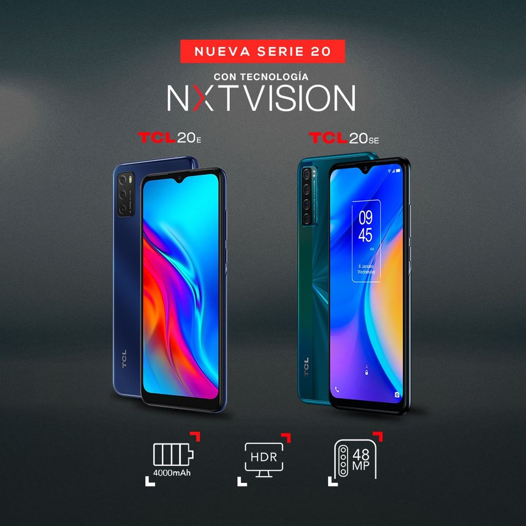 TCL presenta dos nuevos celulares de la serie 20 con inteligencia artificial