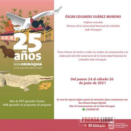 UNAL Sede Orinoquia conmemora su primer cuarto de siglo