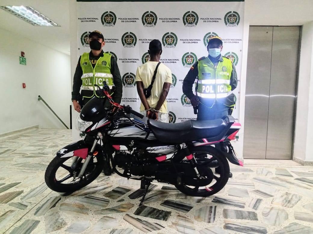 Fue recuperada una motocicleta robada en septiembre en Buenaventura