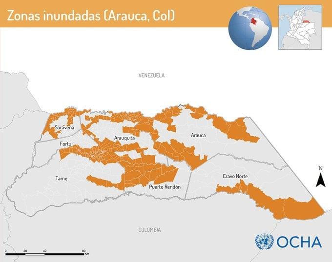 47.472 personas damnificadas por lluvias en Arauca - Noticias de Colombia
