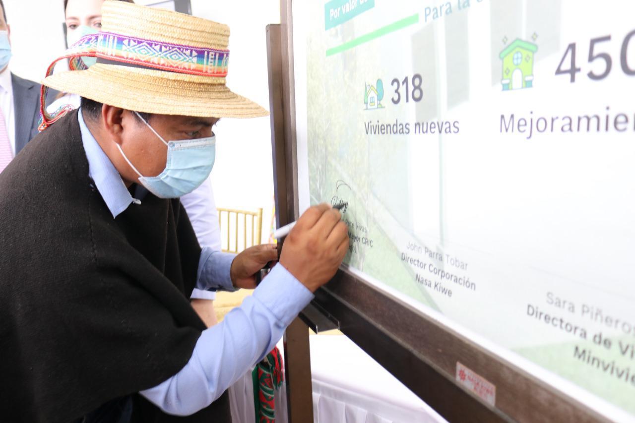 768 hogares indígenas de trece municipios del Cauca tendrán vivienda digna