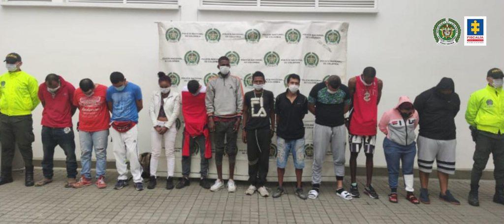 A la cárcel 13 presuntos integrantes de 'Los del Caño', banda dedicada a la distribución de estupefacientes en entornos escolares del oriente de Cali