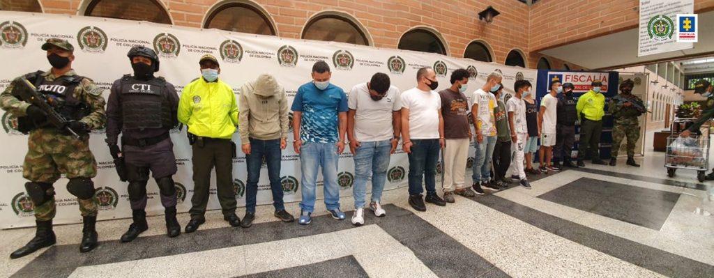Ala cárcel presuntos integrantes de la banda criminal Las Convivir del Centro, investigados por homicidios selectivos en el centro de medellín