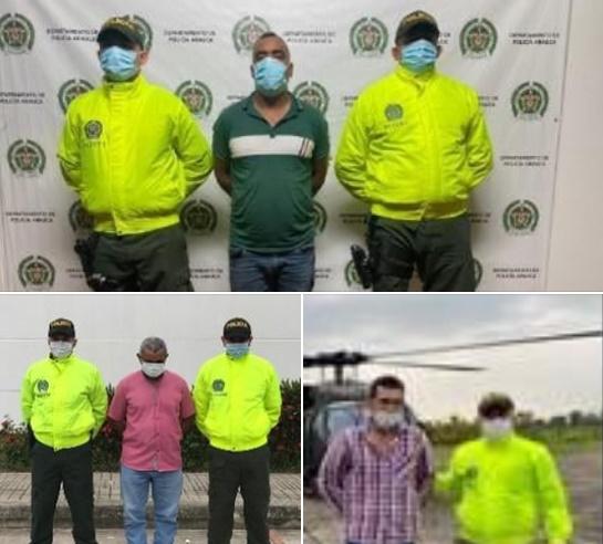Asegurados tres presuntos cabecillas del grupo armado organizado ELN en el departamento de Arauca