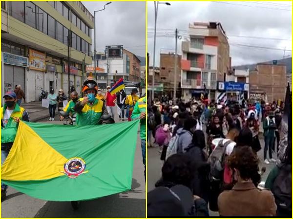 Así avanza la movilización del 20 de Julio en Pasto: cientos de personas salieron a las calles para sumarse a la jornada nacional