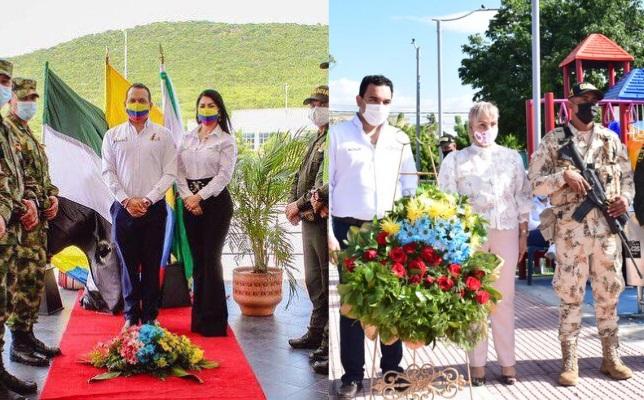 El acto protocolario cumplido con todas las medidas y protocolos de bioseguridad, contó con la presencia de todos los funcionarios de las Administraciones