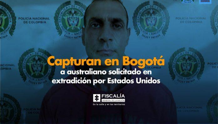 Capturan en Bogotá a australiano solicitado en extradición por Estados Unidos