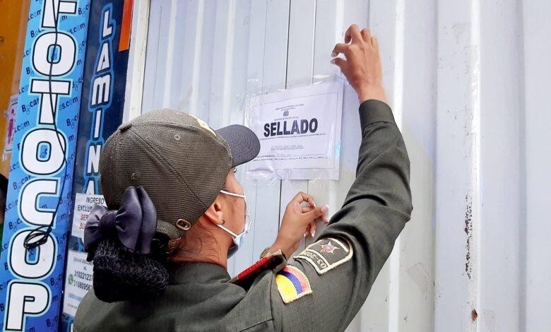 Cierres sancionatorios a establecimientos de Yopal