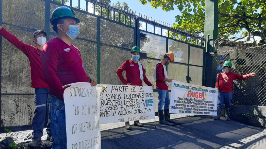 Cinco días de paro en mina en Muzo, Boyacá