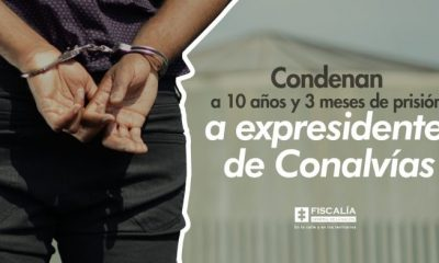 Condenan a 10 años y 3 meses de prisión a expresidente de Conalvías