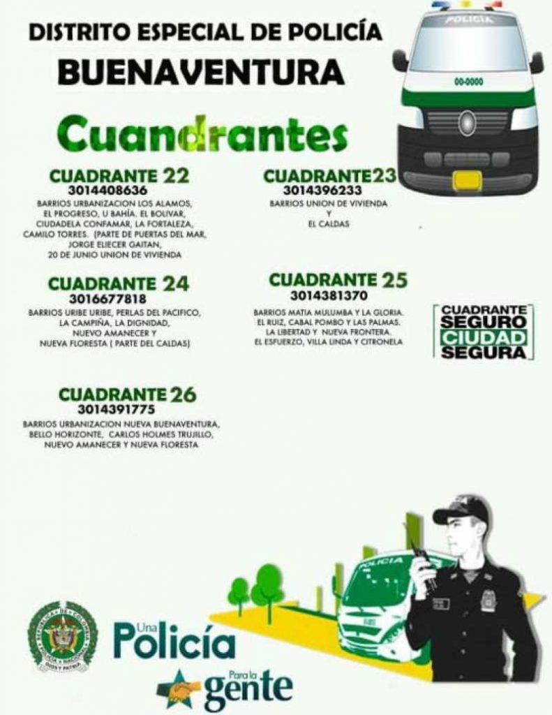 Cuadrantes de Policía en Buenaventura | Noticias de Buenaventura, Colombia y el Mundo