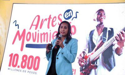 Angélica Mayolo, Ministra de Cultura presentando la estrategia de Cultura en Movimiento