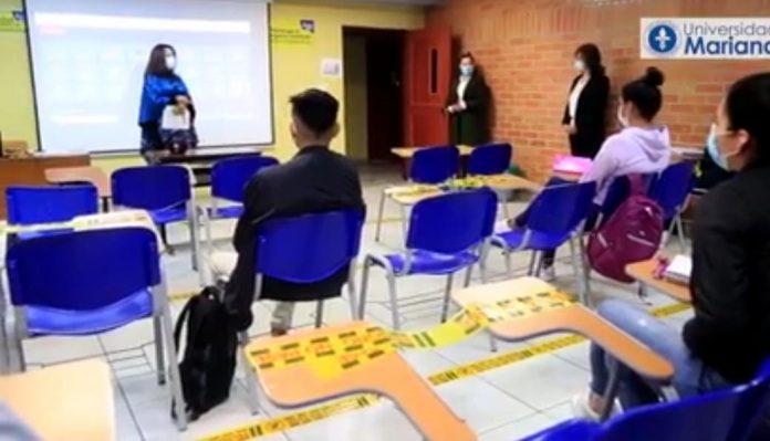En Pasto la Universidad Mariana ya regresó a las clases presenciales