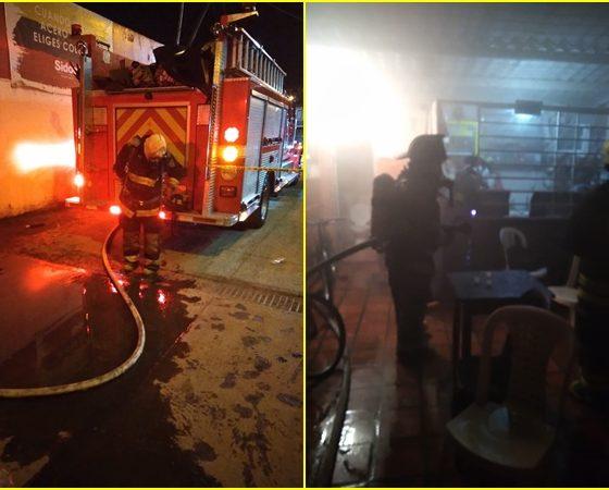 En el sur de Pasto se incendió un establecimiento comercial