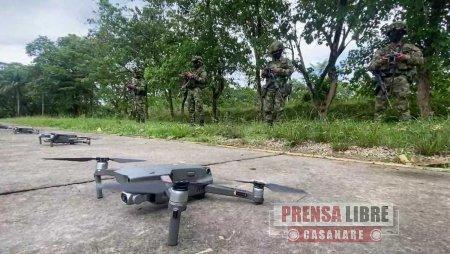 Entró en operación flotilla de drones del Ejército para la seguridad en Arauca