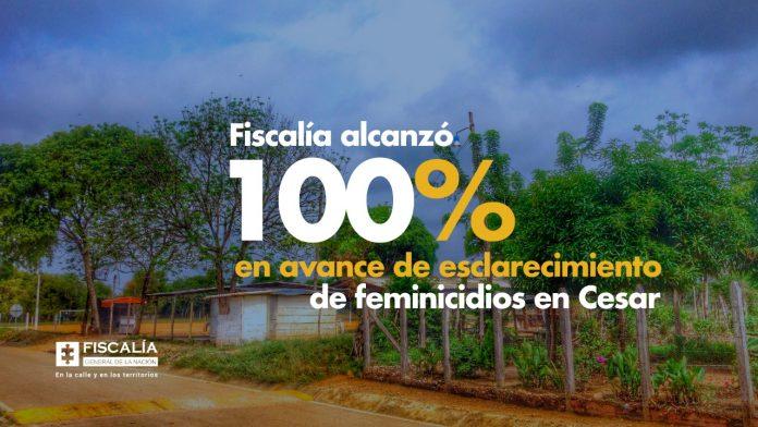 Fiscalía alcanzó 100% en avance de esclarecimiento de feminicidios en Cesar - Noticias de Colombia