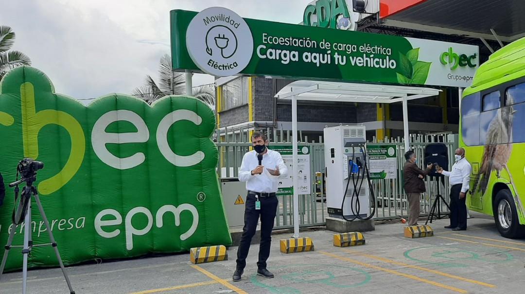 Habilitan la tercera Ecoestación de carga eléctrica vehicular en Manizales