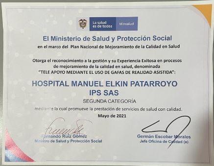 Hospital Manuel Elkin Patarroyo, reconocido por implementación de realidad asistida para atención de covid en Guainía