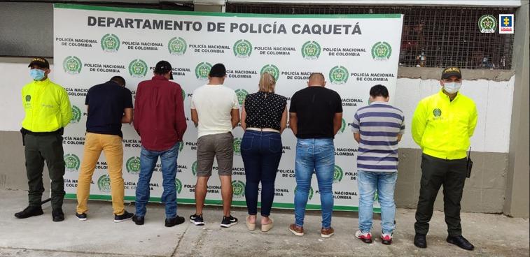 Judicializadas siete personas presuntas integrantes de una organización delincuencial, dedicada al hurto, receptación y manipulación de celulares en Florencia