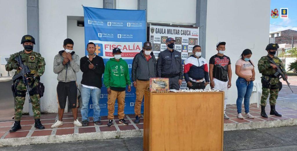Judicializados siete presuntos integrantes de 'Los Coteros' por tráfico de estupefacientes en Popayán