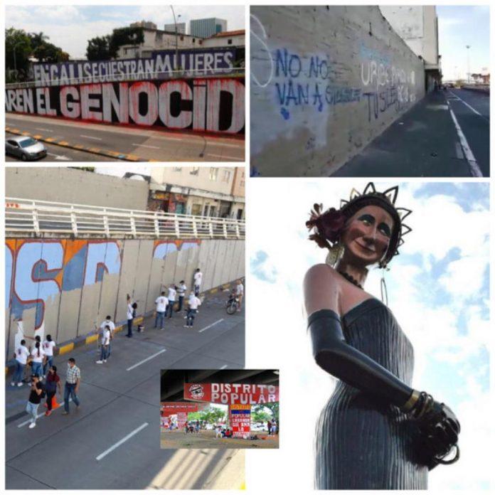 murales en Cali batalla entre grupos de personas