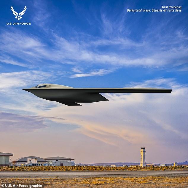 La Fuerza Aérea de los EE. UU. Reveló una nueva imagen artística de su bombardero furtivo B-21 Raider, una que le costará a los militares más de $ 600 millones por avión.