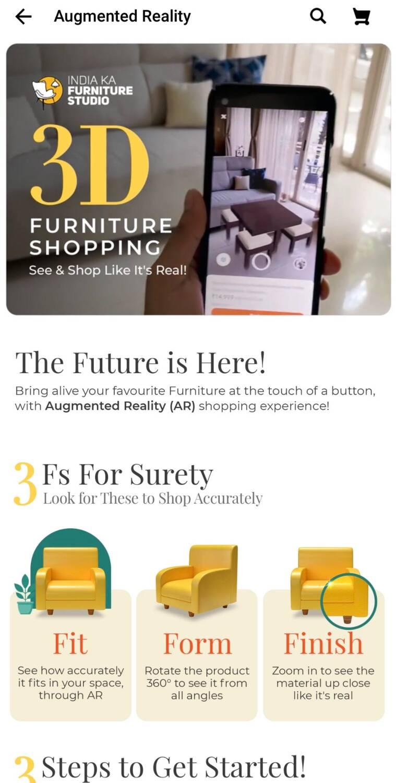 realidad aumentada, flipkart 3d ar feature, ar shopping, ar furniture, flipkart, flipkart ar 3d furniture shopping, ar in ecommerce, ar in retail