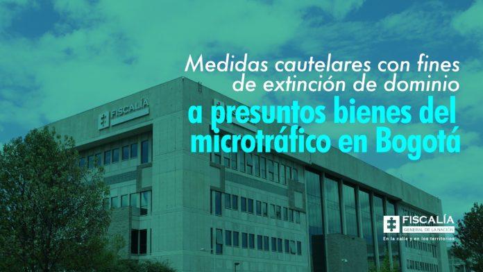 Medidas cautelares con fines de extinción de dominio a presuntos bienes del microtráfico en Bogotá